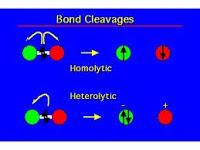 pemecahan molekul homolisis heterolisis