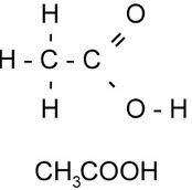 rumus kimia struktur asam asetat