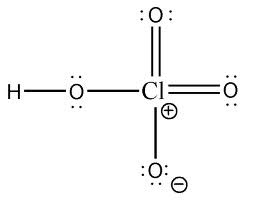rumus kimia struktur asam perklorat