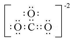 struktur lewis karbonat