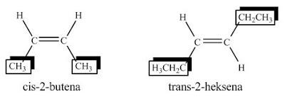 isomer cis-trans alkena