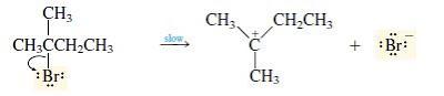 mekanisme reaksi E1 tahap 1