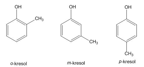 kresol, turunan benzena
