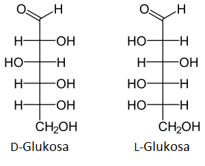 D-glukosa dan L-glukosa monosakarida